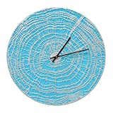Whitehall 16'' End Grain Clock SBL/Silver - 02181