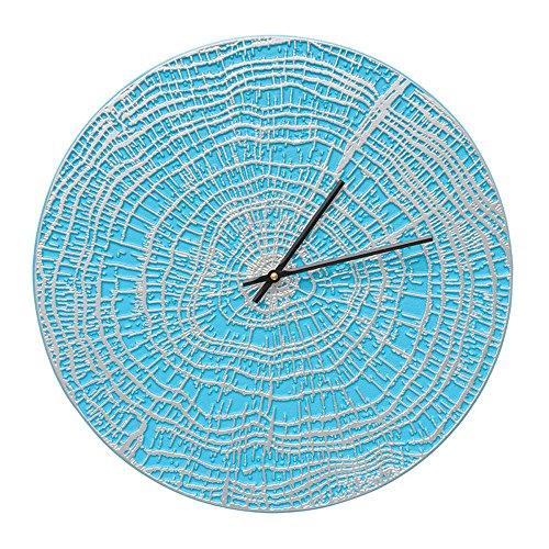 Whitehall 16'' End Grain Clock SBL/Silver - 02181 by Whitehall