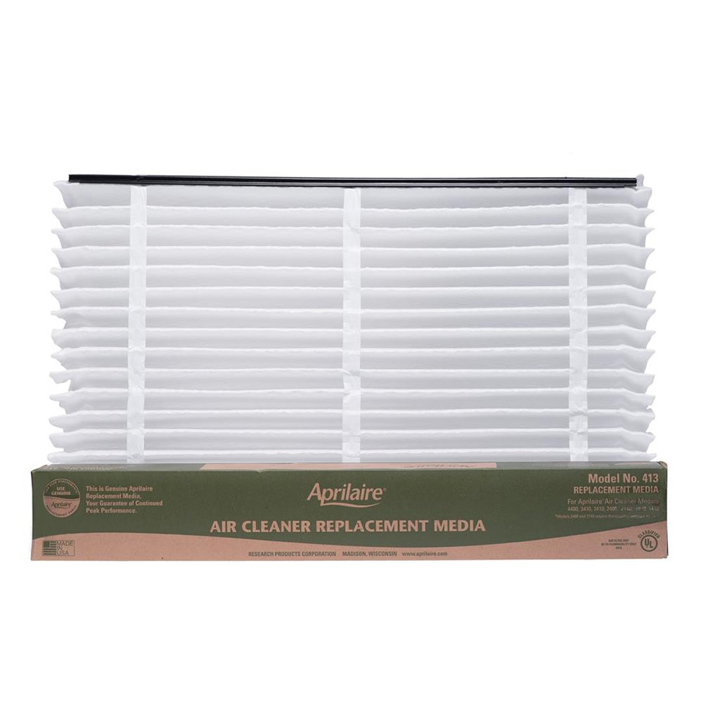 Aprilaire 413 Air Filter 4 Pack for Air Purifier Models 1410, 1610, 2410, 3410, 4400, Space-Gard 2400