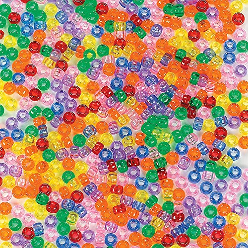 1 Lb See Through Pony Beads - Craft Supplies - 2000 -