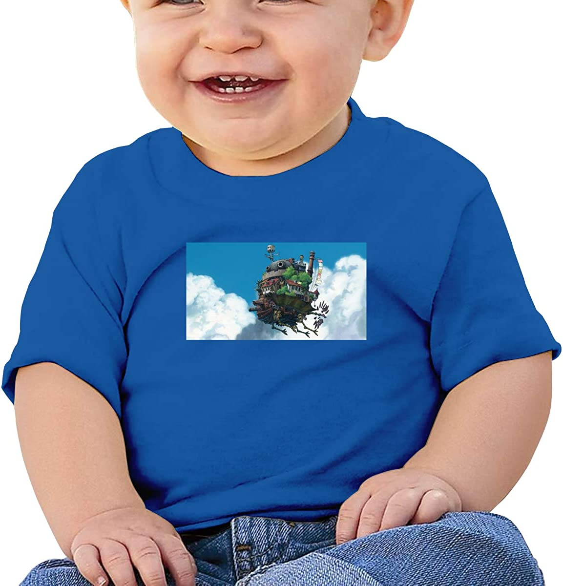 Wokeyia Baby Howls Moving Castle Black Tshirts Cute T Shirt for Baby Boy