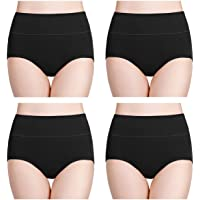 wirarpa Womens Cotton Underwear High Waist Briefs Panties Ladies Full Coverage Knickers Multipack