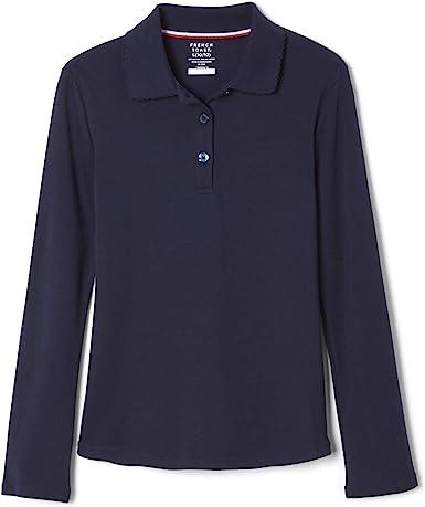 French Toast Girls Uniform Long Sleeve Interlock Polo Shirt Youth PICK SIZE L55