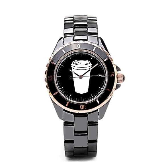 sjfy Mens relojes correa de cerámica to go Drive Thru correa de cerámica reloj