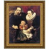 Design Toscano Wildens Family Portrait, 1621, Canvas Replica Painting: Medium