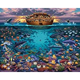 "Jigsaw Puzzle - Noah's Ark ""Under the Sea"" 1000 Pc By Dowdle Folk Art"