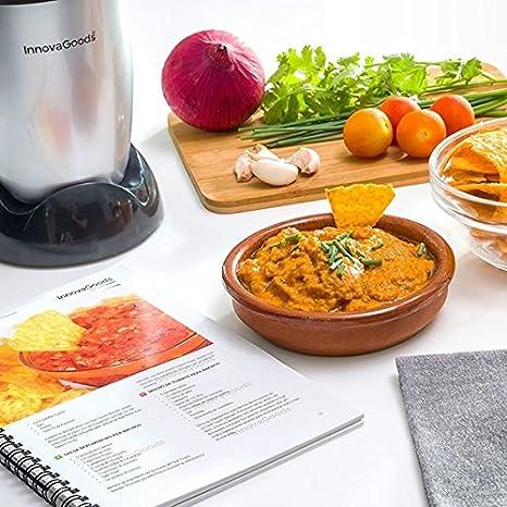 TSC® Cocina Licuadora Licuadora de cristal + accesorios + libro de 50 recetas - bleder de cocina One Touch - Ultra puissant250 W gris: Amazon.es: Hogar