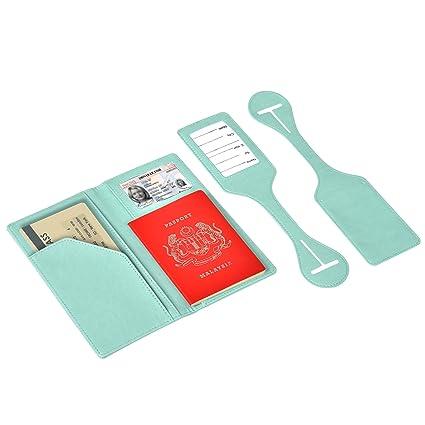 7d2318e543c3 Passport Holder Travel Wallet Vegan Leather Passport Case Cover Air ...