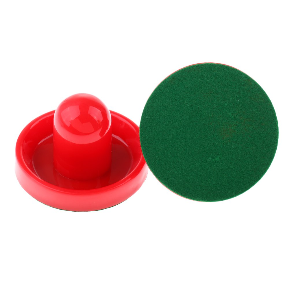 Dovewill 2 Pieces Durable Plastic Air Hockey Pushers Goal Handles Paddles Replacement for Game Tables - Choice of Color and Size