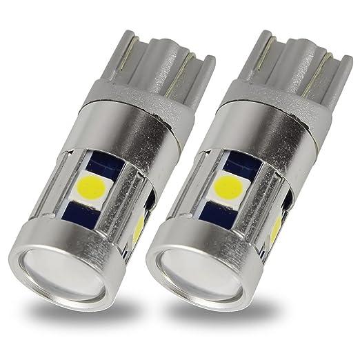 2 opinioni per Safego 2x T10 501 W5W LED 5SMD 3030 Lampadina Interni Per Auto Tronco Luci