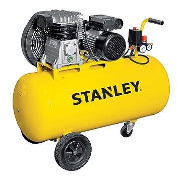 Compresor con aceite Transmisión a correa monostadio 100L 3HP Stanley B 345E/9/100: Amazon.es: Bricolaje y herramientas