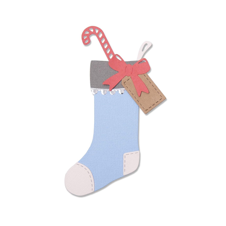 Einheitsgr/ö/ße Mehrfarben Sizzix 663426 Christmas Stocking by Sophie Guilar Stanzschablonen