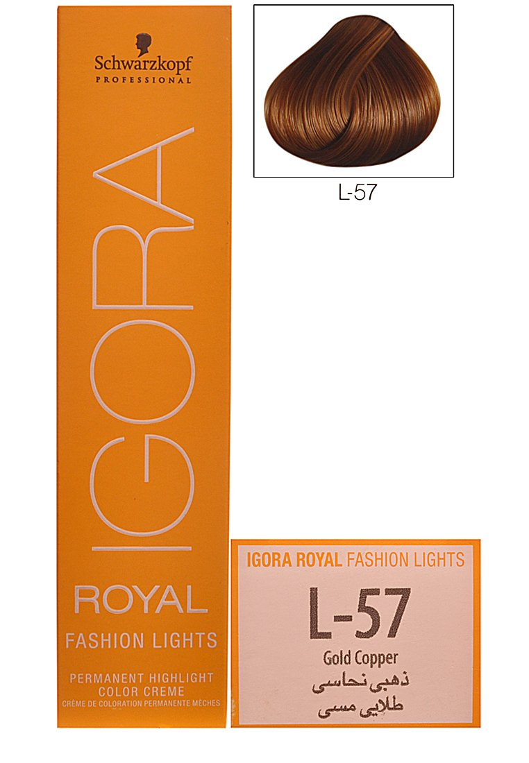 Buy schwarzkopf igora royal fashion lights hair colour l 57 gold buy schwarzkopf igora royal fashion lights hair colour l 57 gold copper online at low prices in india amazon nvjuhfo Images