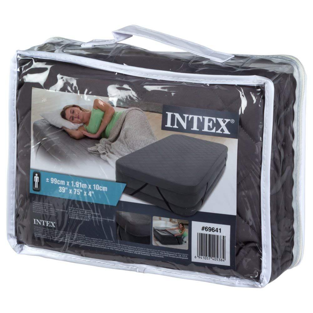 Intex - Funda Acolchada colchón 100% poliéster - 99 x 191 x 10 cm ...