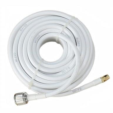mingcoll 50 ft 5D-FB od7.5 Ultra baja pérdida Cable Coaxial ...