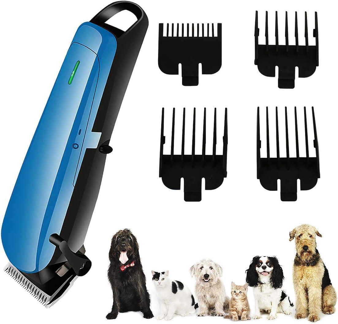 Cortapelos para Perros Cortapelos Recargables para Perros Usb Kit de Herramientas de Aseo para Mascotas de Bajo Ruido para Perros Gatos Mascotas