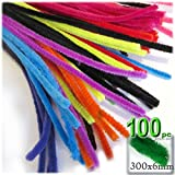 The Crafts Outlet Chenille Stems, Pipe Cleaner, 12-inch (30-cm), 100-pc, Bright Mix