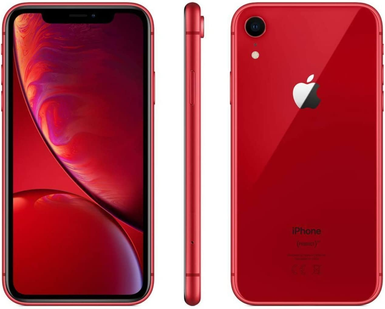 Apple iPhone XR, 64GB, Red - Fully Unlocked (Renewed)