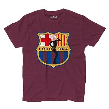 Camiseta para hombre Parodia Logos Futbol Porcelona 1 M