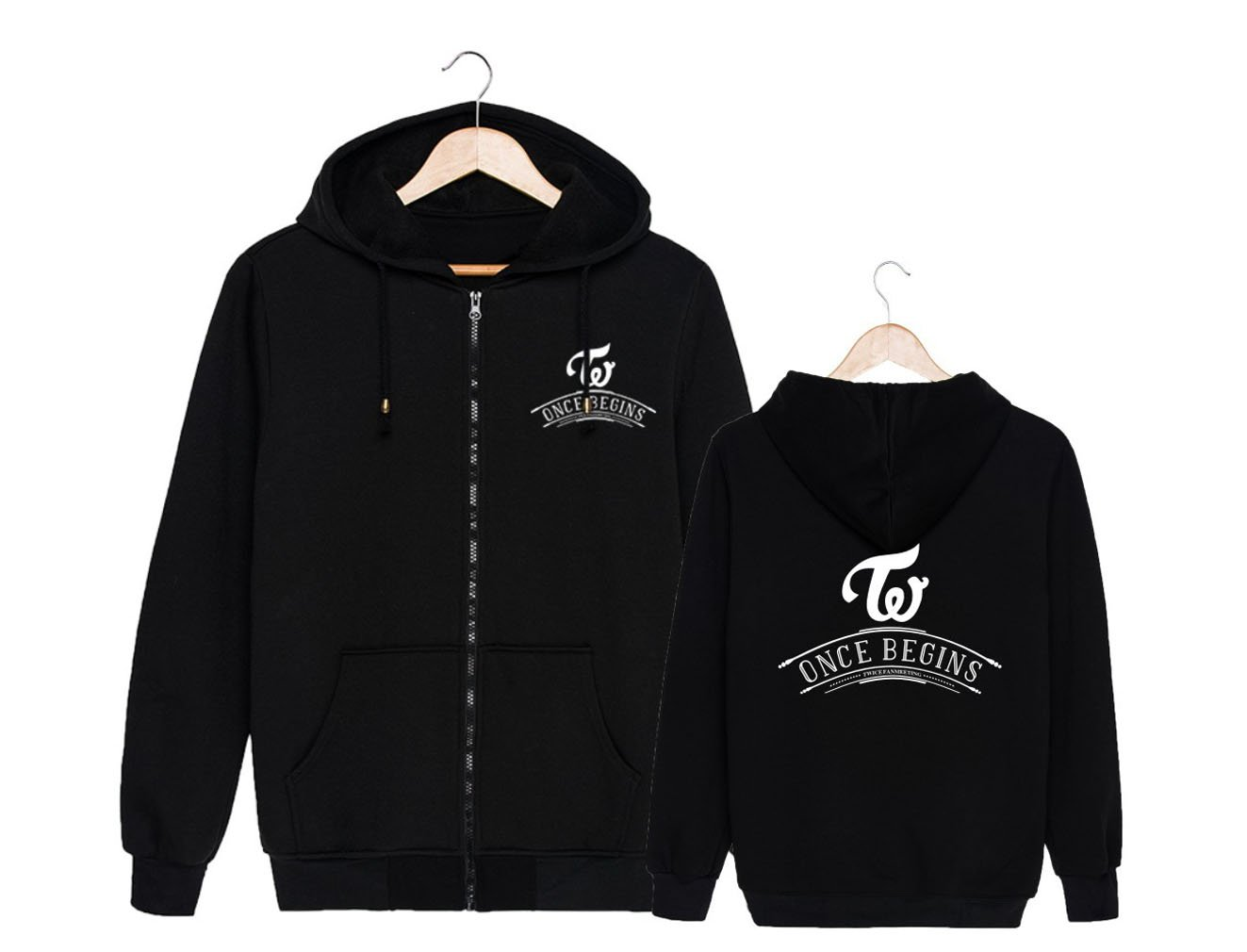 ALLDECOR Twice FM Once Begins Concert Long Sleeve Hoodie Coat Cotton Pullover