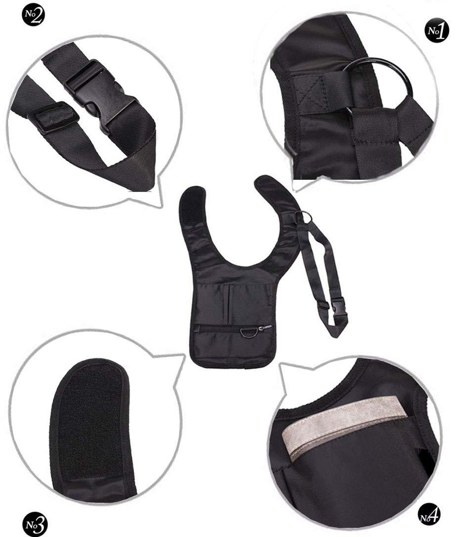 Novelty Cool Mens Travel Storage Bag FBI Hidden Underarm Pocket MP3 Passports Mobile Phone Organizer by Sun Vale (Image #1)