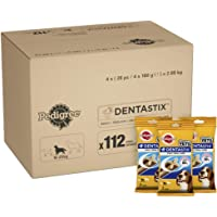 Pedigree Dentastix Dog Treats Dental Chews Dental Care for Medium Dogs from 10-25 kg, 1 Box (1 x 2.88 g/Total of 112 Chews)