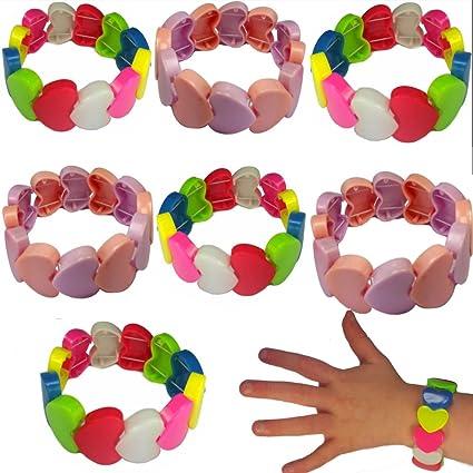 German Trend Seller® - 6 x Corazón pulseras para niños ...