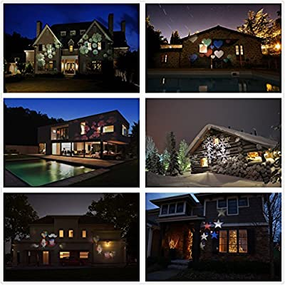 Salcar Halloween Decorations Navidad Lámpara de Proyector, Luces ...