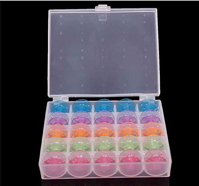 Hosaire Caja con 25 canillas vacías para máquina de Coser plástico: Amazon.es: Hogar