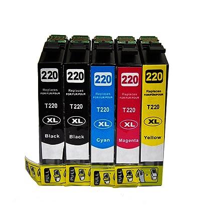 tyjtyrjty Compatible 1set + 1 Negro Epson 220 cartucho de ...