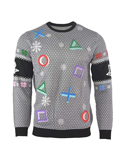 afb05dfb8cb0 PlayStation Christmas Jumper Ugly Sweater Symbols Grey for Men Women ...