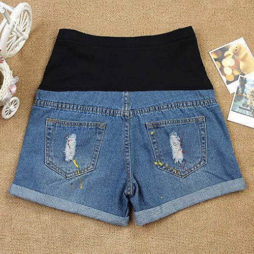 XXIAZHI, Pantalones cortos de maternidad casuales azules ...