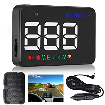 Heads Up Mostrar Coches Universal GPS Velocímetro 3,5 Pulgadas HUD Brújula De Coche Digital