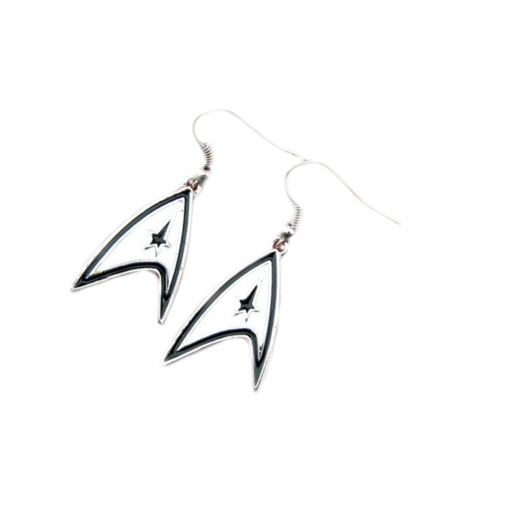 Superheroes Star Trek Logo Dangle Earrings In Gift Box