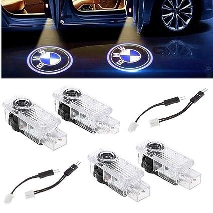 4 X Luz de Puerta de Coche 3D Logo Proyector Láser LED Luces Kit ...