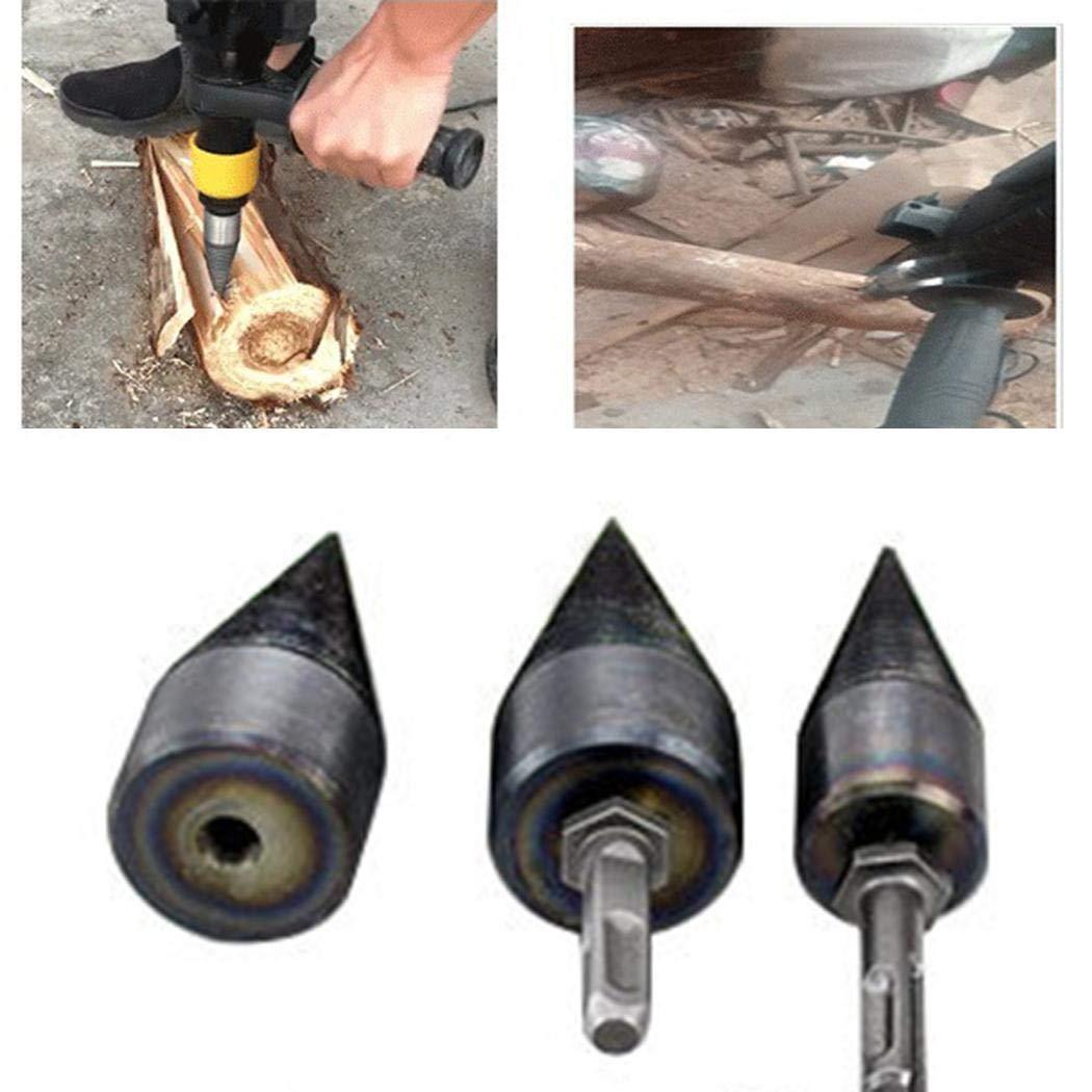 Berill 32mm Log Splitter Screw Cone Kindling Firewood Splitter 1pcs for Hand Drill Stick Copper