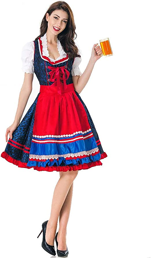 Disfraces De Mujer Oktoberfest Ladies M-XL Stage Costume Maid ...