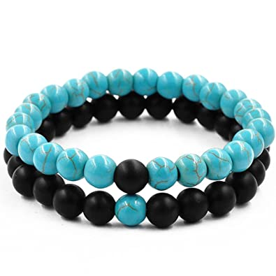 De À 2 Perles Belons Lot Énergétiques Bracelets Extensibles eWIEH29YD