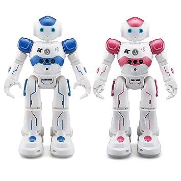 ECLEAR 1 Set Remote Control RC Robot, JJRC CADY WINI&WIDA Smart Programming  Gesture Sensing Robotics Humanoid Robots Kit Toys Present For Kids