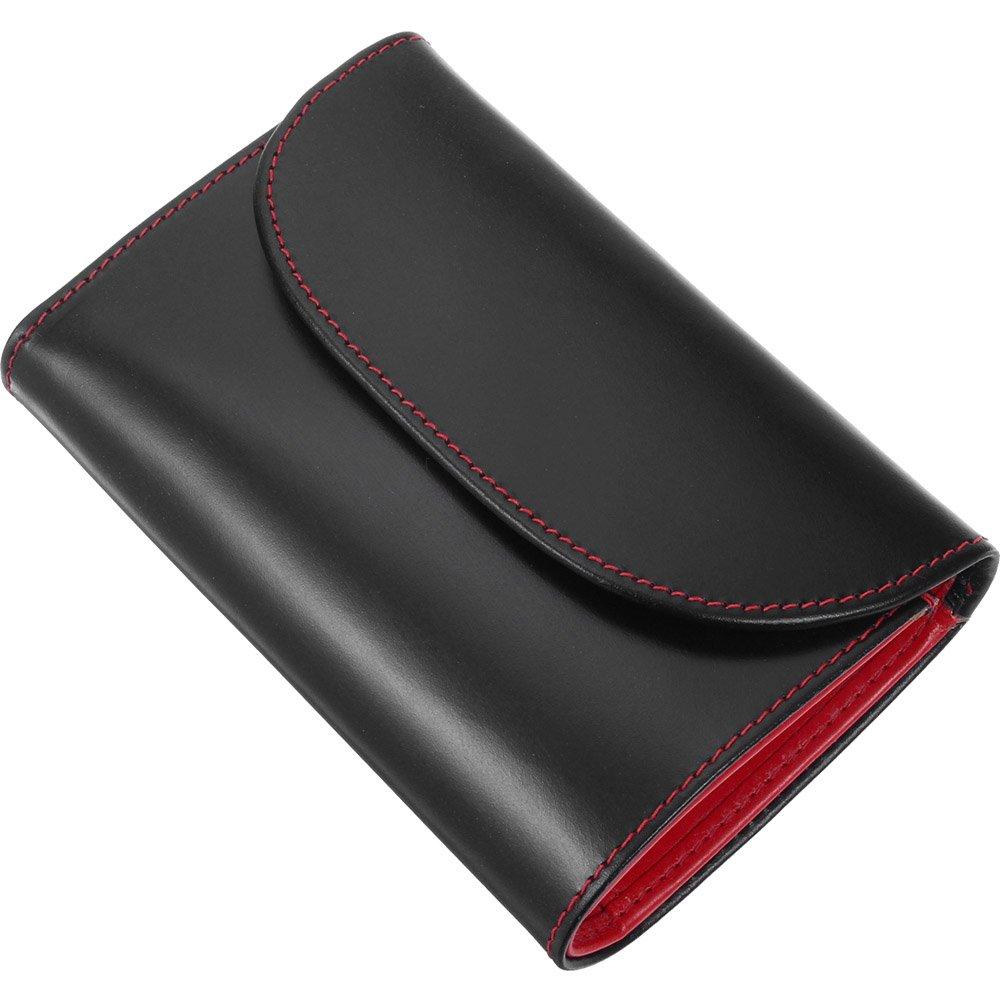 ホワイトハウスコックス(Whitehouse Cox) S7660 三つ折り財布 【正規販売店】 B00DDNU038 ブラック/レッド ブラック/レッド