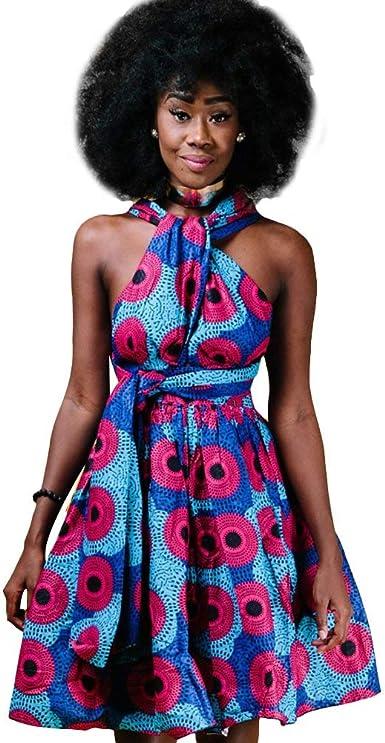 Femmes Robe Africaine Style Ethnique Multi Wear Robe De Tailles Confortables Soiree Vintage Robes Courtes Multiway Vetement Robe D Ete Bandage Elegante Robe De Plage Robe De Cocktail Robe De Soiree Amazon Fr Vetements