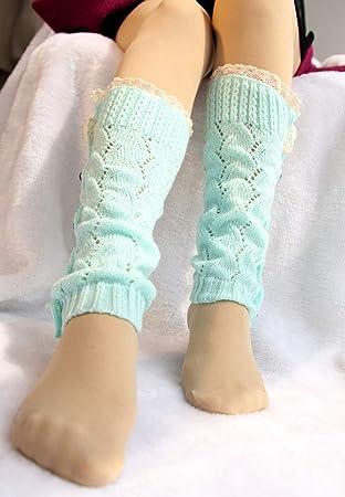 YUCH Calcetines De Punto De Mujer Calcetines Térmicos Calcetines De Puño Chaqueta De Pierna Corta Mujeres