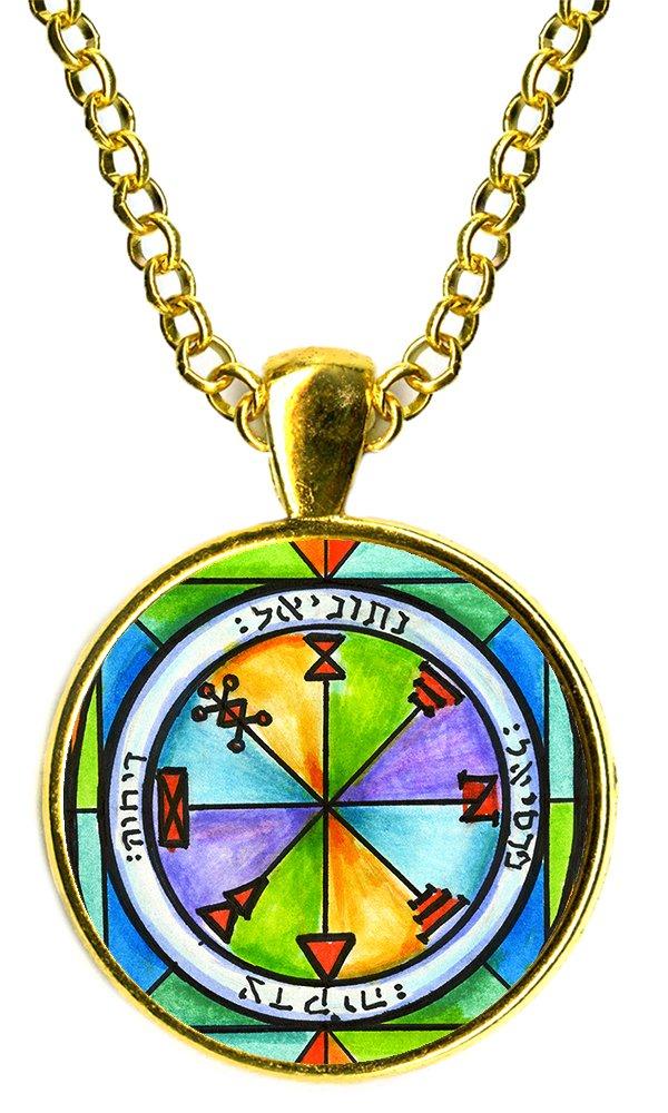 Solomons 1st Jupiter Seal for Business Success 1'' Pendant (gold-plated)
