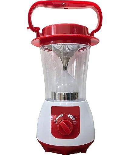 light Home Delight 24 Watt Solar Power Bank Emergency Light (Red and White)
