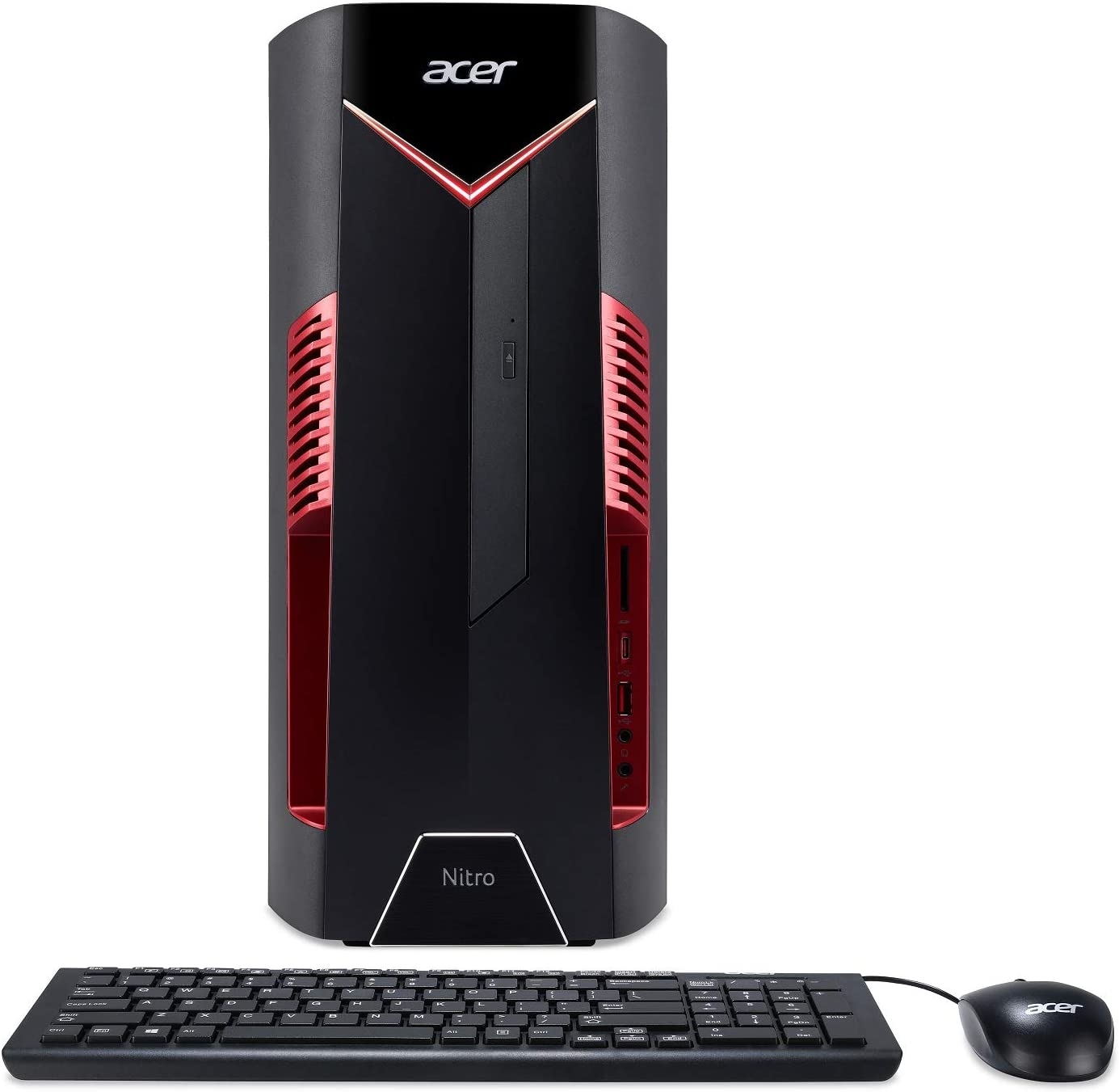 Acer Nitro 50 N50-600-UR11 Desktop, 8th Gen Intel Core i5-8400, GeForce GTX 1050 Ti Graphics, 8GB DDR4, 1TB HDD, Windows 10 Home