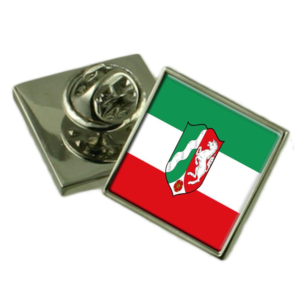 North Rhine-Westphalia State Flag Lapel Pin Badge Solid Silver 925