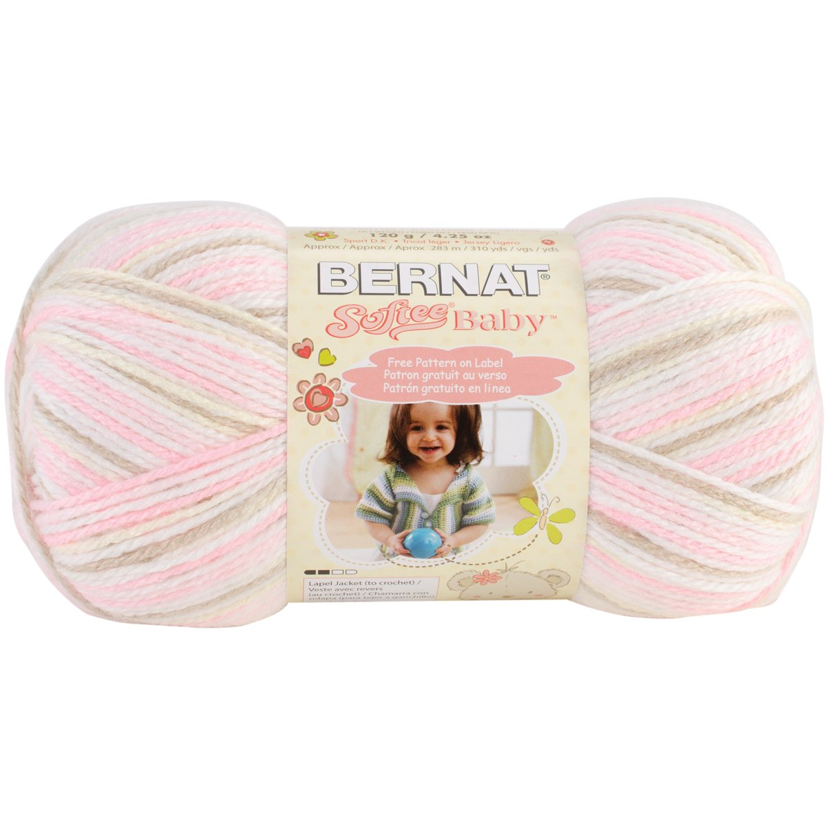 Spinrite 166031-31215 Softee Baby Yarn Ombres - Little Bo Peep B015TB6OK4