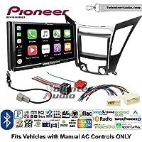 Volunteer Audio Pioneer AVH-W4400NEX Double Din Radio Install Kit with Wireless Apple CarPlay, Android Auto, Bluetooth Fits 2011-2013 Hyundai Sonata
