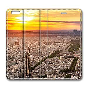 iPhone 6 Plus Case, Fashion Protective PU Leather Flip Case [Stand Feature] Cover Paris City for New Apple iPhone 6(5.5 inch) Plus