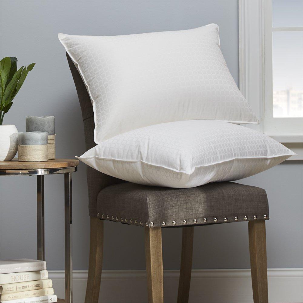 Dreamstead by Cuddledown Modern 700FP Goose Down Hypoallergenic Pillow, Standard Medium, Windowpane